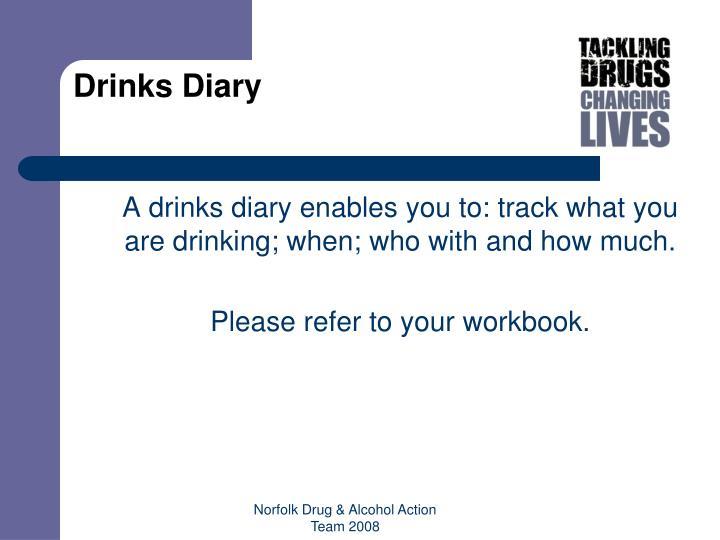 Drinks Diary