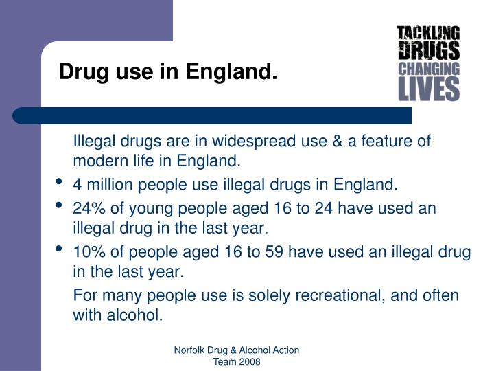 Drug use in England.