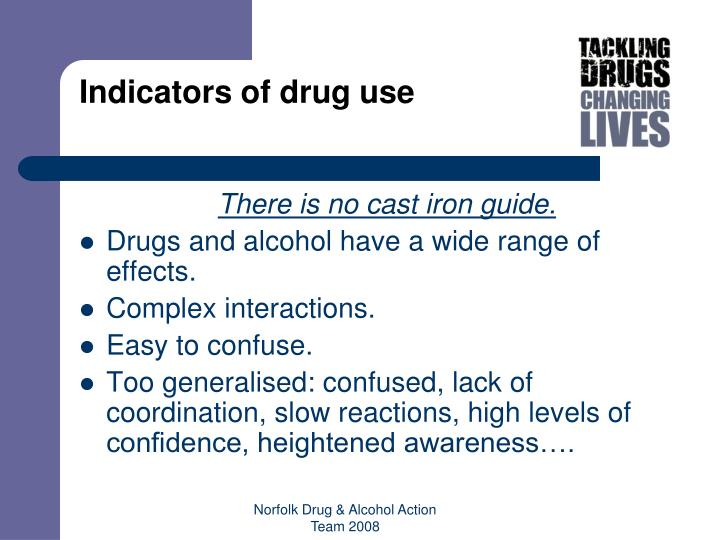 Indicators of drug use
