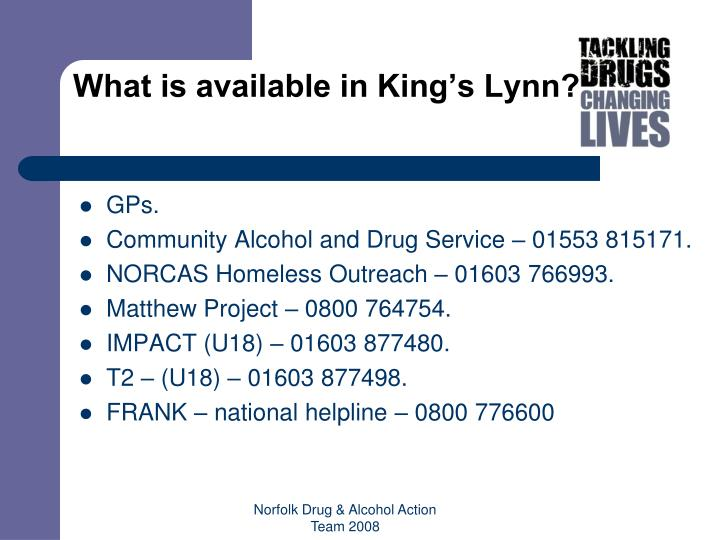What is available in King's Lynn?