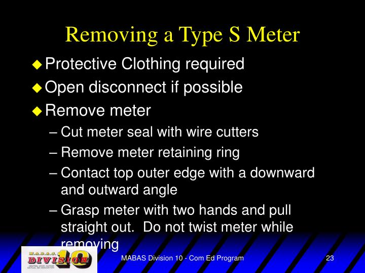 Removing a Type S Meter