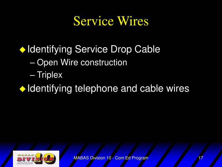 Service Wires