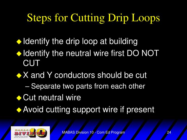Steps for Cutting Drip Loops