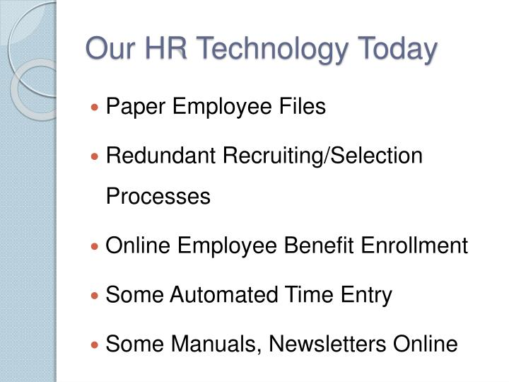 Our HR Technology Today