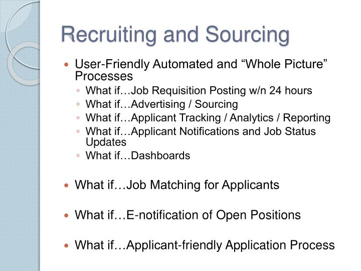 Recruiting and Sourcing