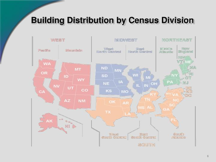 Building Distribution by Census Division