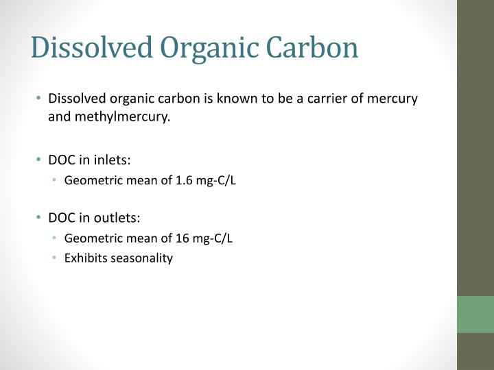 Dissolved Organic Carbon