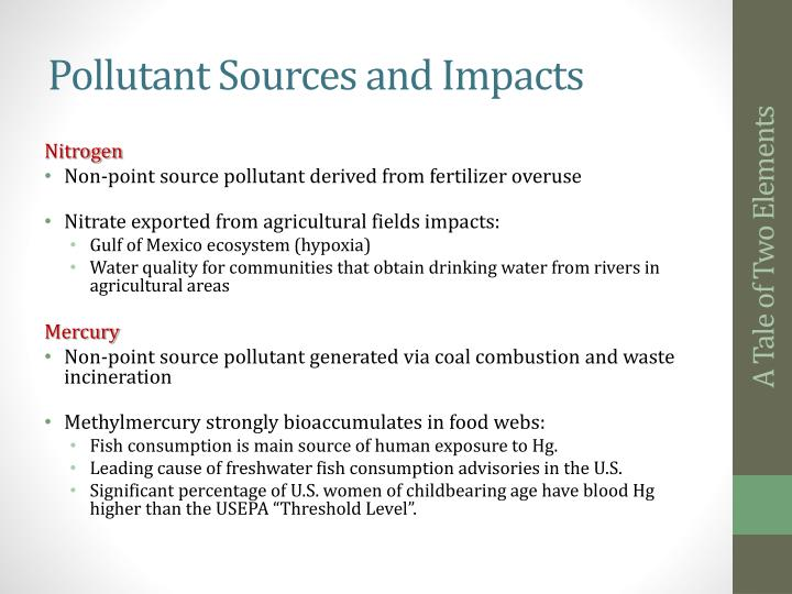 Pollutant Sources and Impacts