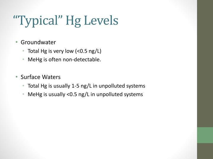 """""""Typical"""" Hg Levels"""