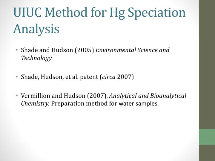 UIUC Method for Hg Speciation Analysis