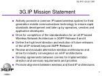 3g ip mission statement