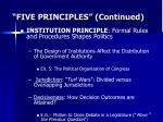 five principles continued1