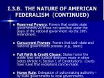 i 3 b the nature of american federalism continued