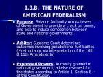 i 3 b the nature of american federalism