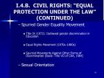 i 4 b civil rights equal protection under the law continued5