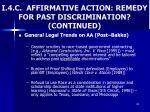 i 4 c affirmative action remedy for past discrimination continued1