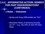 i 4 c affirmative action remedy for past discrimination continued2