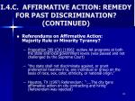 i 4 c affirmative action remedy for past discrimination continued3