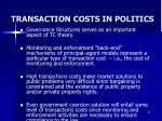 transaction costs in politics
