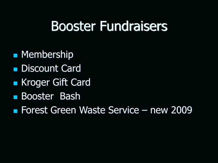 Booster Fundraisers