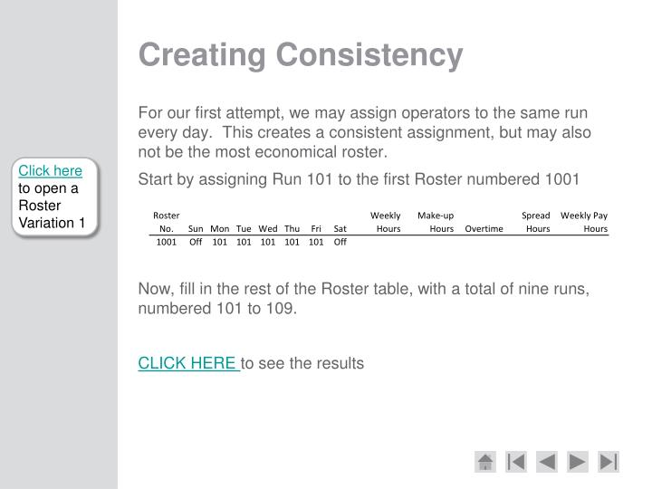 Creating Consistency