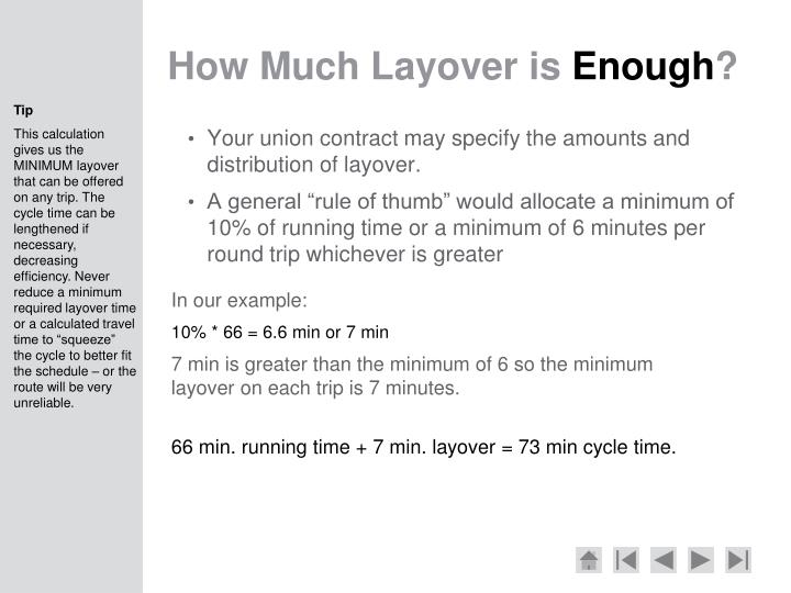 How Much Layover is