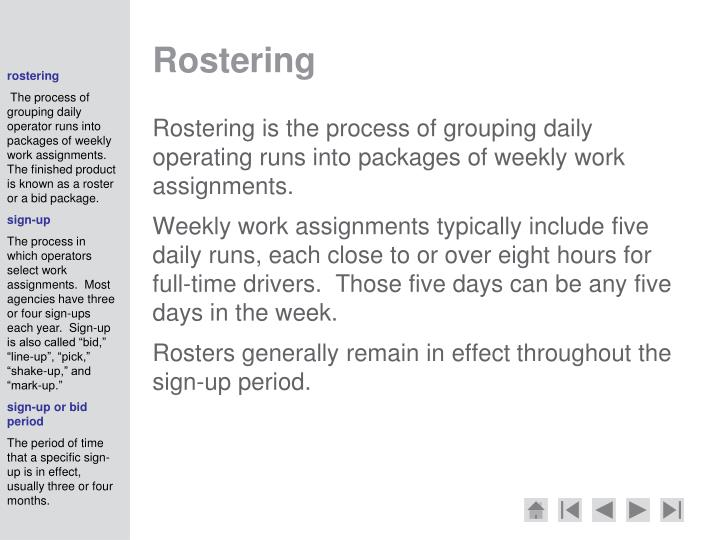 Rostering