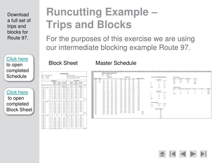 Runcutting Example –