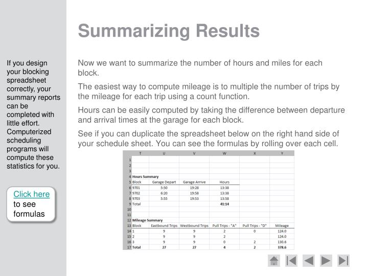Summarizing Results