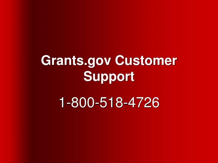 Grants.gov Customer Support