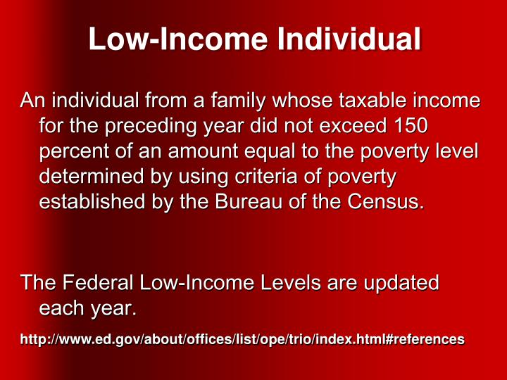 Low-Income Individual