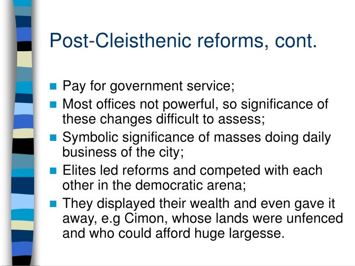 Post cleisthenic reforms cont