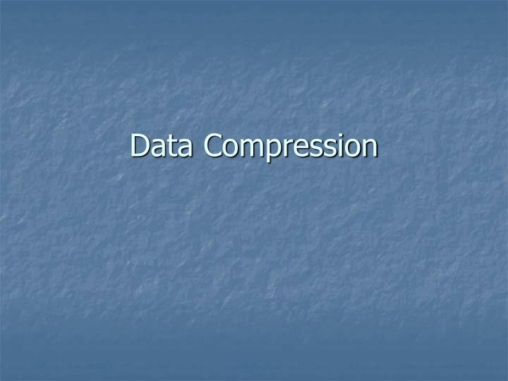 data compression n.