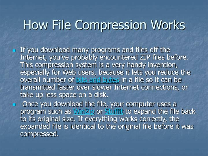 How file compression works