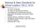 national state standards for school leaders isllc elcc