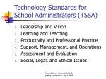 technology standards for school administrators tssa