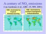 a century of no x emissions van aardenne et al gbc 15 909 2001