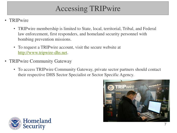 Accessing TRIPwire