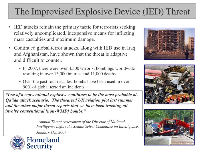 The Improvised Explosive Device (IED) Threat