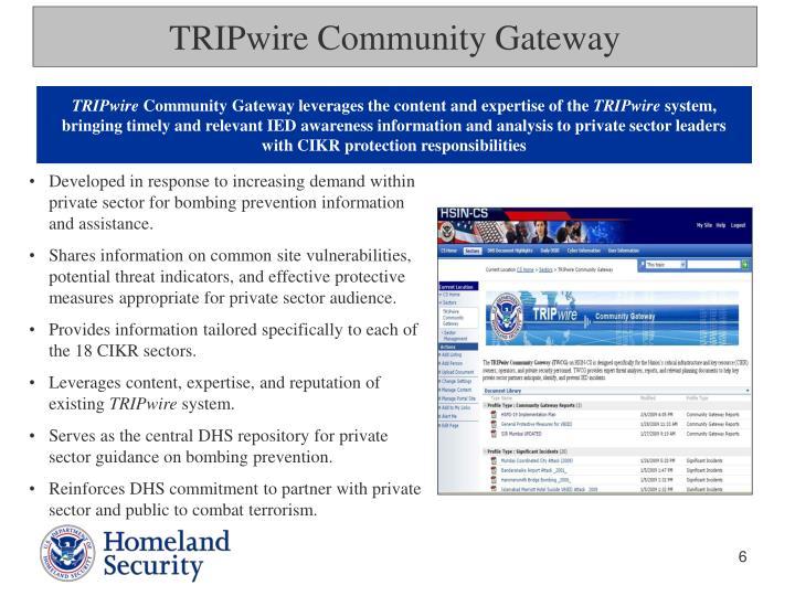 TRIPwire Community Gateway