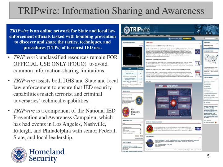 TRIPwire: Information Sharing and Awareness