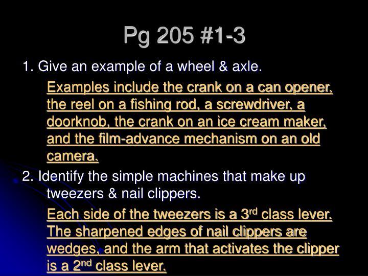 Pg 205 #1-3