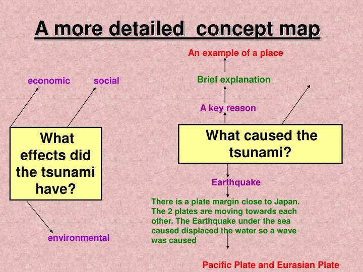 A more detailed  concept map