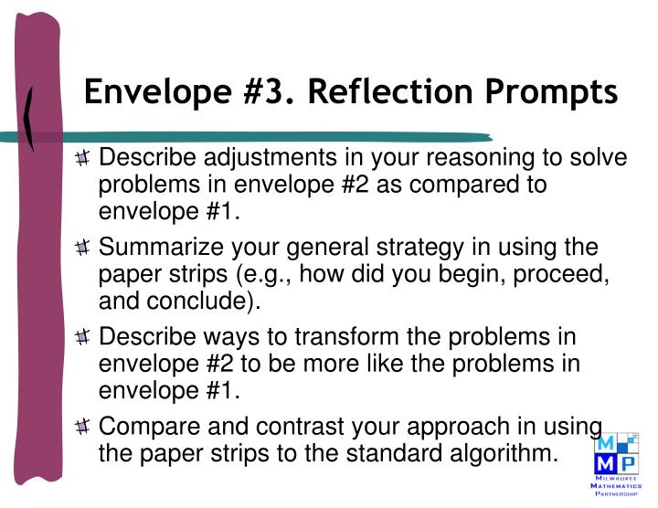 Envelope #3. Reflection Prompts