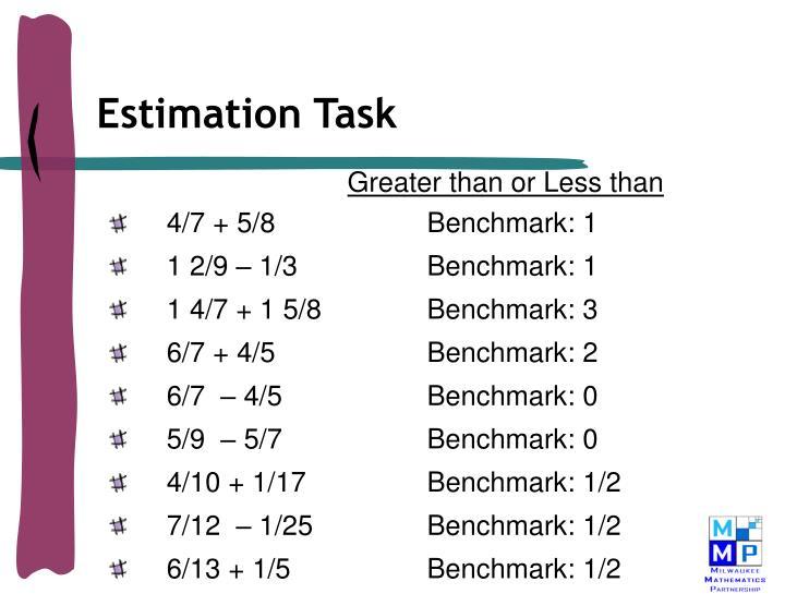 Estimation Task