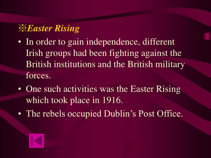 yeats easter rising and irish independence essay British troops patrol the new border in 1922 continuing with our series of overviews and following the overview of the easter rising and the overview of the irish civil war, john dorney tells the essential story of the 1919-21 irish war of independence.