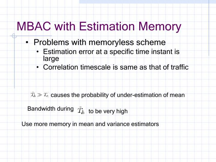 MBAC with Estimation Memory