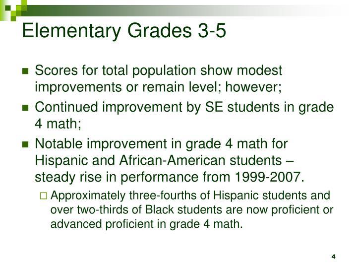 Elementary Grades 3-5