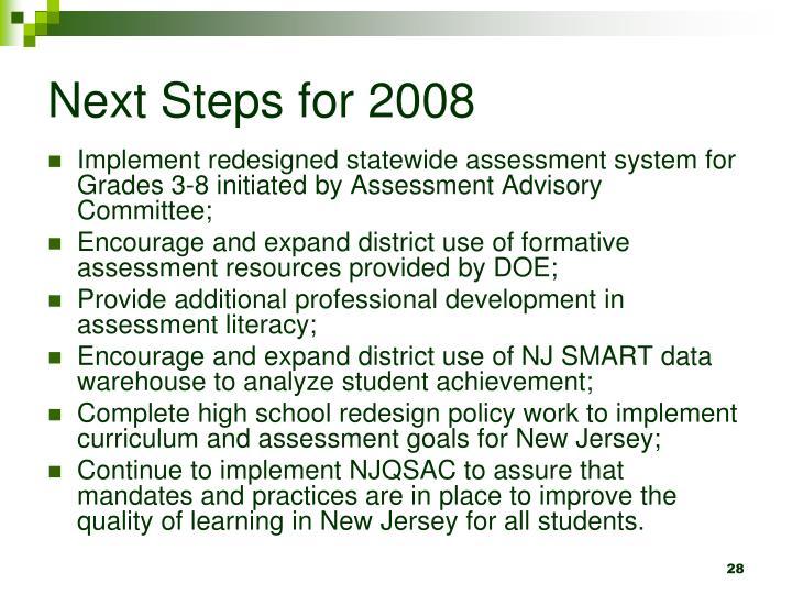 Next Steps for 2008