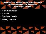 support services pacific island people with an intellectual disability by pacific people